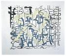 From a Silent Dream, linocut, unika, 72x84cm, olie på japanpapir