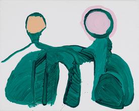 Nyslået rum, akryl på lærred, 2013