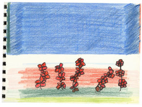 Shiko, 10,5x14,5, farveblyant på papir, 2007