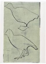 Out of Stone, 64 x 46 cm, linocut, olie på japanpapir