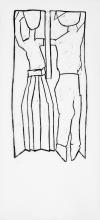 Dansen, 91 x 41 cm, linoleumstryk, unika på kokon