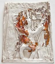 Hvid Galskab, H:#&xB:33cm, stentøj, 2011