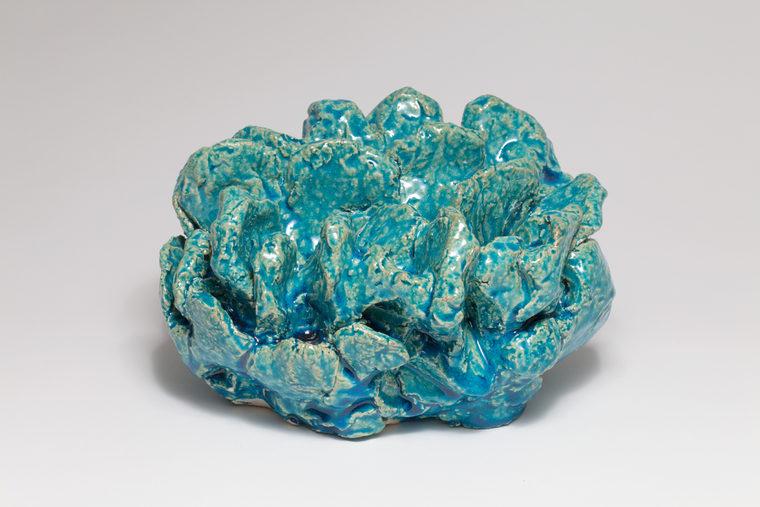 Keramisk objekt, glaseret fajance, t h:25 cm, 2016