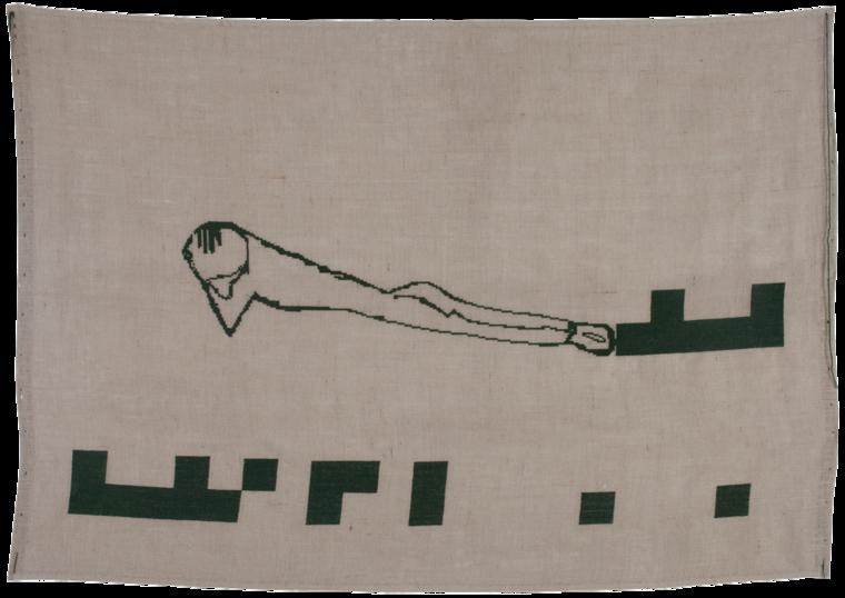På sporet, broderi, 130x185 cm