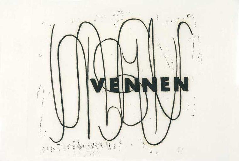 fra Duras-serien, Ordet, 29x35cm 1998